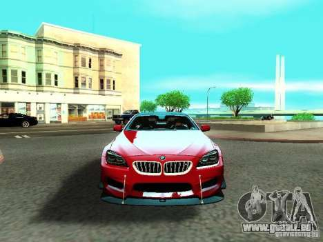 BMW M6 2013 für GTA San Andreas obere Ansicht