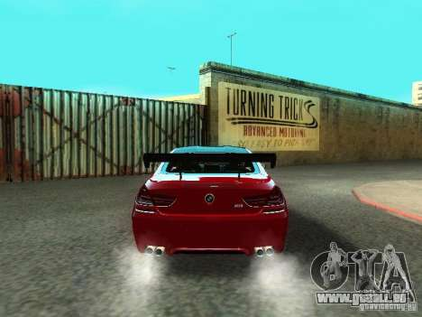 BMW M6 2013 pour GTA San Andreas vue de côté