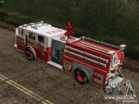 Seagrave Marauder II Engine 62 SFFD für GTA San Andreas Seitenansicht