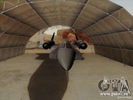 YF-12A pour GTA San Andreas vue intérieure