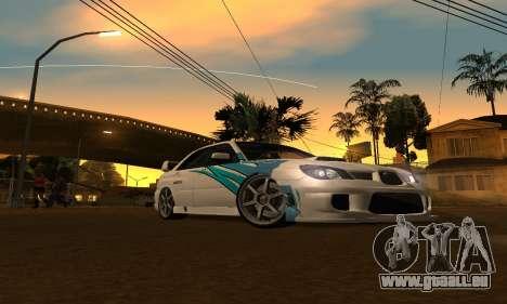 Subaru Impreza WRX STi 2006 für GTA San Andreas zurück linke Ansicht