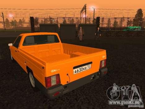 IZH 27171 pour GTA San Andreas sur la vue arrière gauche