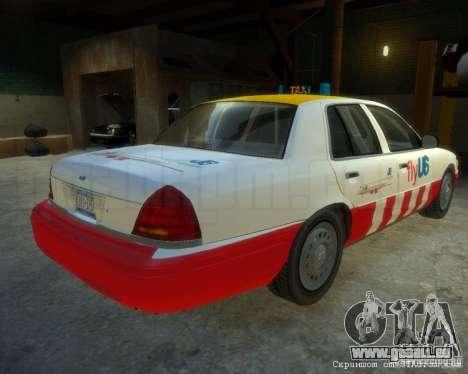 Ford Crown Victoria for FlyUS Car pour GTA 4 Vue arrière de la gauche