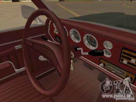1970 Chevrolet Monte Carlo pour GTA San Andreas vue de dessus