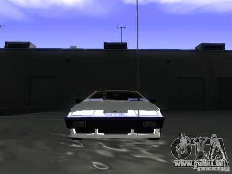 Lotus Esprit Turbo pour GTA San Andreas vue arrière