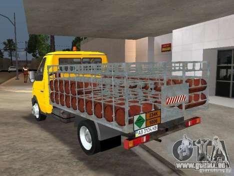 GAZ 3302 Balonovoz pour GTA San Andreas sur la vue arrière gauche