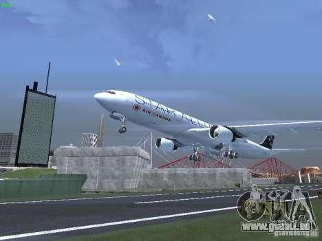 Airbus A330-300 Air Canada für GTA San Andreas obere Ansicht