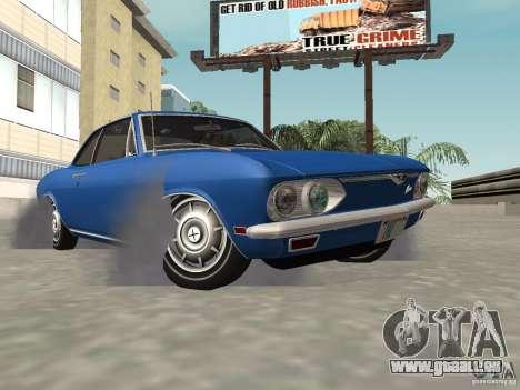 Chevrolet Corvair Monza 1969 für GTA San Andreas Innenansicht