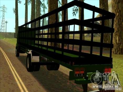 Ford Cargo für GTA San Andreas zurück linke Ansicht