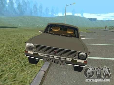 Volga GAZ-24 12 pour GTA San Andreas laissé vue