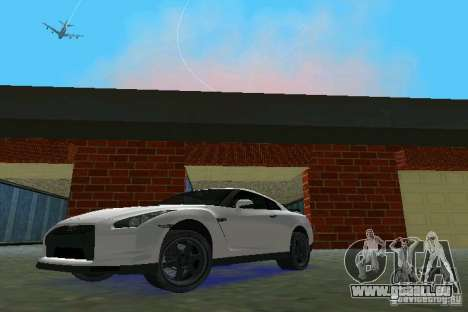 Nissan GT-R Spec V 2010 v1.0 pour une vue GTA Vice City de la gauche