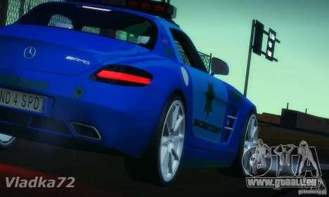 Mercedes-Benz SLS AMG Blue SCPD pour GTA San Andreas laissé vue
