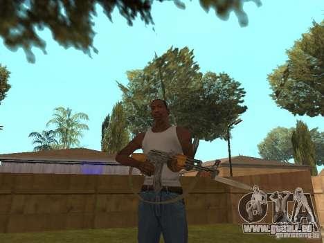 AK 47 avec un HD de baïonnette-couteau pour GTA San Andreas troisième écran