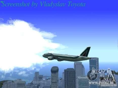 Airbus A320-214 Alitalia v.1.0 pour GTA San Andreas vue de dessous