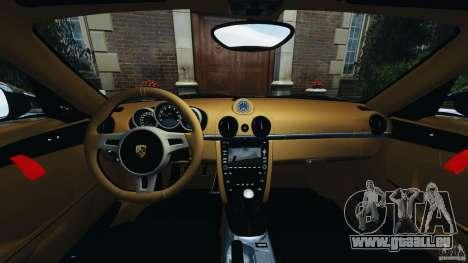 Porsche Cayman R 2012 pour GTA 4 Vue arrière