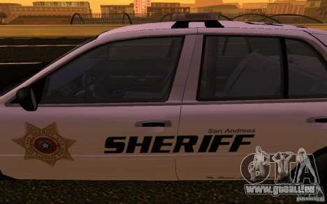 Ford Crown Victoria Police pour GTA San Andreas vue intérieure