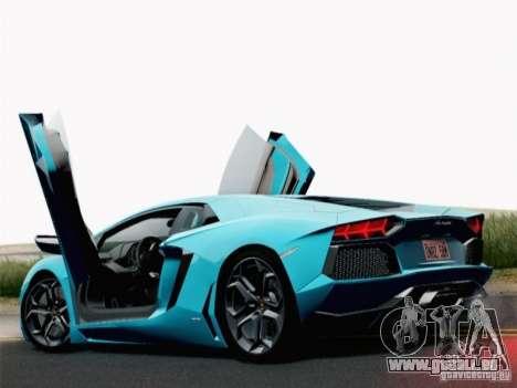 Lamborghini Aventador LP700-4 2012 pour GTA San Andreas laissé vue