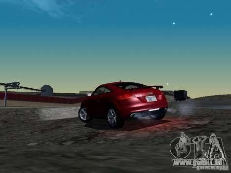 Audi TT-RS Coupe 2011 v.2.0 pour GTA San Andreas sur la vue arrière gauche