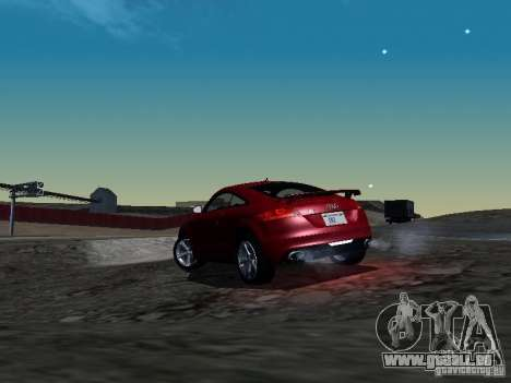 Audi TT-RS Coupe 2011 v.2.0 für GTA San Andreas zurück linke Ansicht
