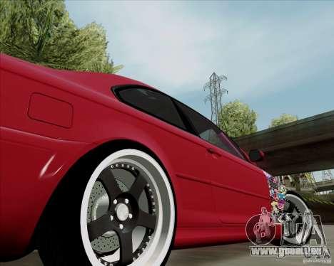 BMW E46 pour GTA San Andreas vue arrière