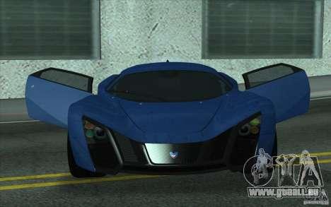 Marussia B2 2010 pour GTA San Andreas vue intérieure