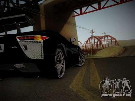 Lexus LFA Nürburgring Edition für GTA San Andreas Rückansicht
