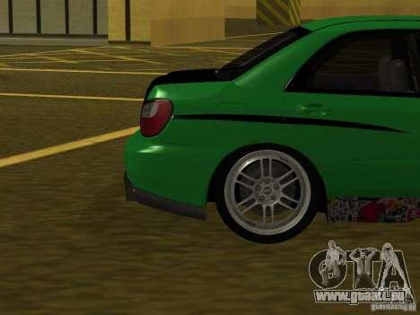 Subaru Impreza WRX pour GTA San Andreas vue de côté