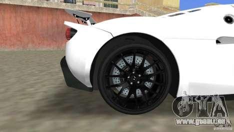 Hennessey Venom GT Spyder für GTA Vice City rechten Ansicht