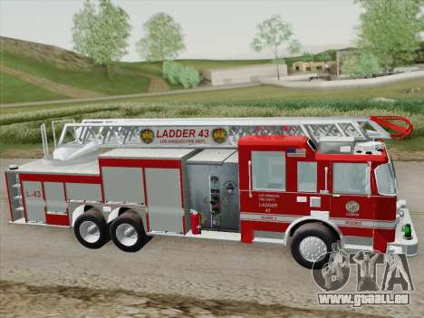 Pierce Arrow LAFD Ladder 43 für GTA San Andreas obere Ansicht
