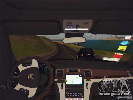 Cadillac Escalade ESV 2012 pour GTA San Andreas vue arrière