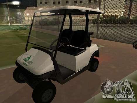 Caddy de GTA TBoGT pour GTA San Andreas vue arrière