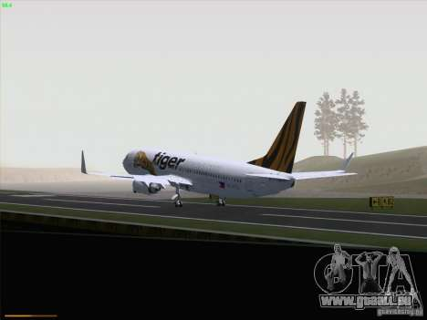 Boeing 737-800 Tiger Airways für GTA San Andreas Innenansicht