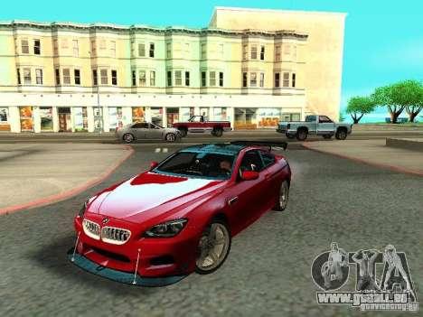 BMW M6 2013 pour GTA San Andreas vue de dessous