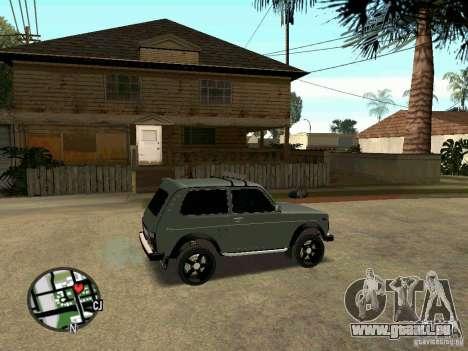 21213 Niva LADA pour GTA San Andreas sur la vue arrière gauche
