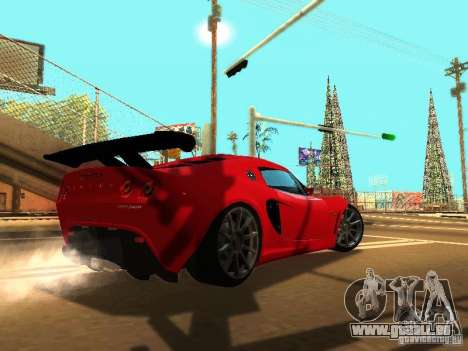 Lotus Exige 240R pour GTA San Andreas vue de dessous