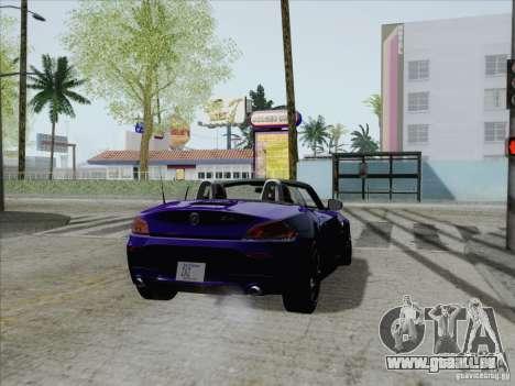 BMW Z4 2011 pour GTA San Andreas laissé vue