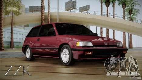 Honda Civic Si Coupe pour GTA San Andreas sur la vue arrière gauche