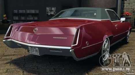 Cadillac Eldorado 1968 pour GTA 4 Vue arrière de la gauche