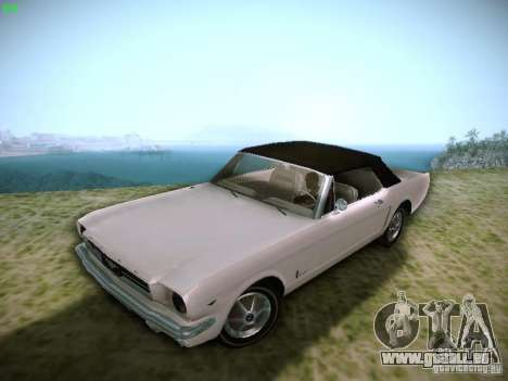 Ford Mustang Convertible 1964 pour GTA San Andreas vue arrière