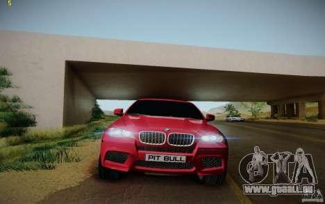 BMW X6 v1.1 für GTA San Andreas Innenansicht