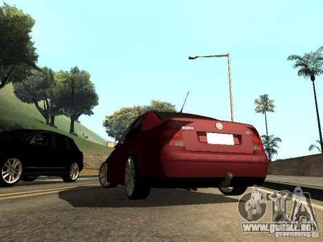 Volkswagen Bora DUB pour GTA San Andreas laissé vue