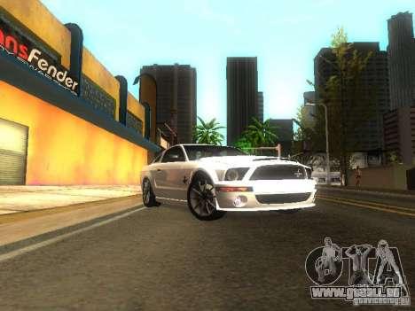 Ford Shelby GT 2008 für GTA San Andreas Rückansicht