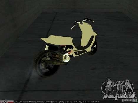 Yamaha Aerox pour GTA San Andreas vue de dessus