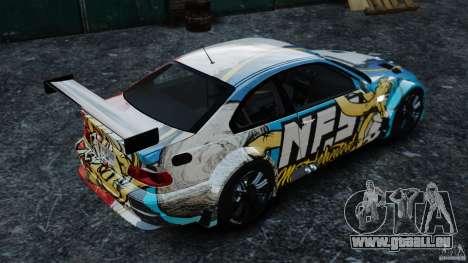 BMW M3 GTR MW 2012 pour GTA 4 est une gauche