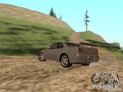 Nissan Skyline GTR R34 für GTA San Andreas linke Ansicht