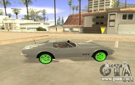 Chevrolet Corvette Stingray Monster Energy pour GTA San Andreas vue de droite