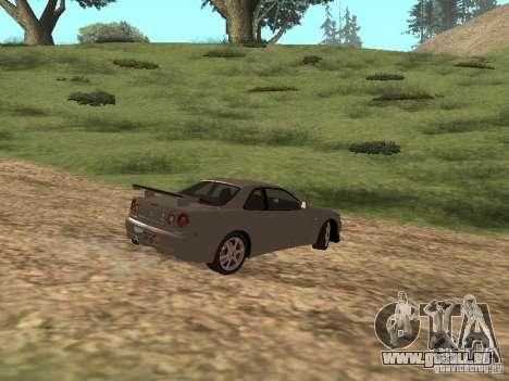 Nissan Skyline GTR R34 für GTA San Andreas rechten Ansicht