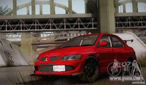 Mitsubishi Lancer Evolution VIII MR Edition pour GTA San Andreas vue de côté