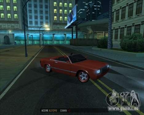 Feltzer v1.0 pour GTA San Andreas vue intérieure