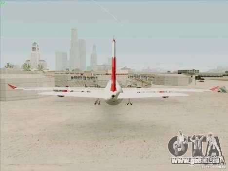 Airbus A-340-600 Plummet für GTA San Andreas zurück linke Ansicht